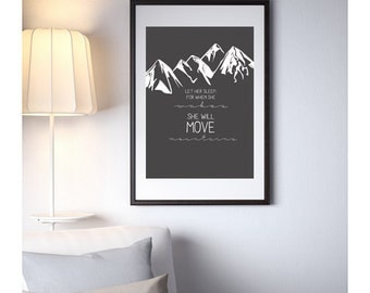 She Will Move Mountains Print