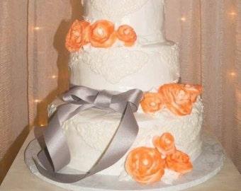 Vine monogram wedding cake topper