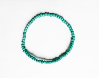 Turquoise beaded anklet or bracelet
