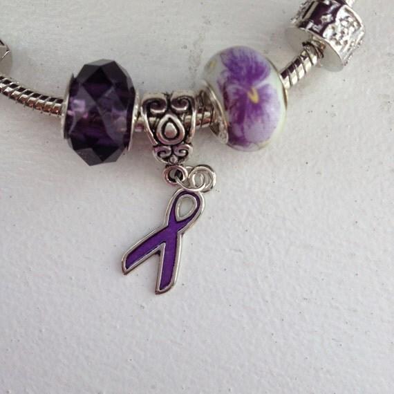 IBD Awareness silver plated bracelet, Ulcerative Colitis awareness, Crohn's awareness, European bracelet, silver plated bracelet, IBD
