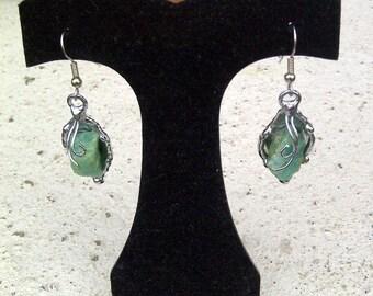 Aventurine & Silver earrings