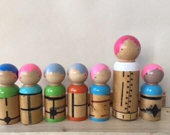 Wooden dolls, Family of peg dolls!