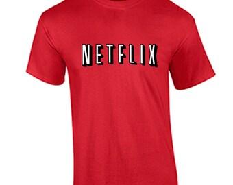Netflix Movie Night T Shirt Netflix and Chill Funny Humor T-Shirt