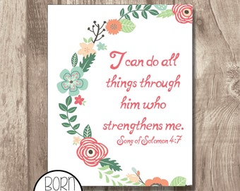 Printable Bible Verse Song of Solomon 4:7