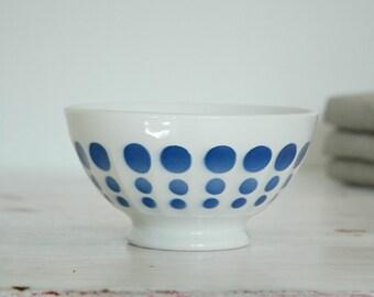 Vintage French café au lait bowl- R/B