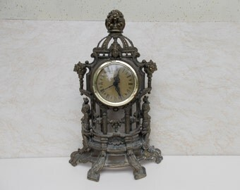 Vintage wall, desk  clock / Elektrik clock / metal Clock / Home decor / wall decor / unique clock / working clock / gift idea / decor