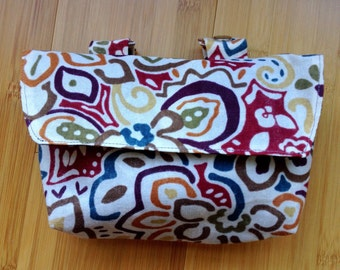 Bike Handle Bar Bag / Bicycle Bag / Clutch - Waxed Cotton