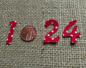 Diy advent calendar iron on numbers 1-24 / Christmas countdown / Christmas calendar numbers / Christmas decor