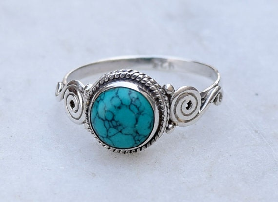 Turquoise Ring 925 Solid Sterling Silver by silverplace99 on Etsy