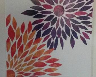 Abstract zinnia flower art