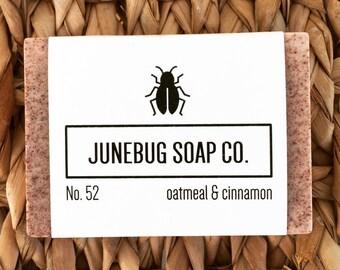 Oatmeal & Cinnamon Bar Soap - Cinnamon Soap, Oatmeal Soap, Natural Soap, Handmade Soap, Oatmeal Bar Soap, Exfoliating Soap, Homemade Soap