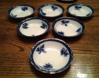 Six Antique Small Bowls, Very Good Condition