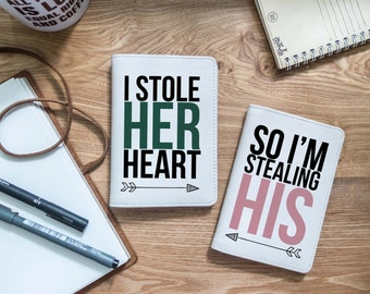 I stole her hear - Quotes - Couple quotes - Couple passport holder - Travel gift - Passport - Passport cover| VIG-PPC-068-Perfcase
