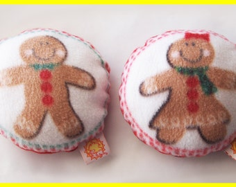 Personalized Christmas Dog Toy with Squeaker - Gingerbread Boy or Girl