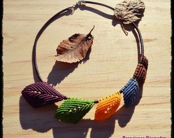 Boho leaves necklace