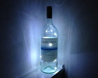 Cordless Wine Bottle Light Decoration:  Mezzacorona Pinot Grigio 1500ml