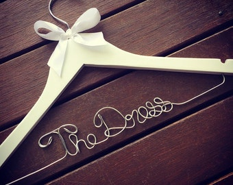 Handmade Bride Wedding Coat Hanger 'The Dress'