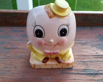 Rubens Vintage Humpty Dumpty Ceramic Planter/Vase Made In Japan