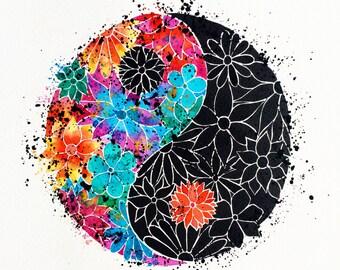 Yin Yang Print (A3 square)