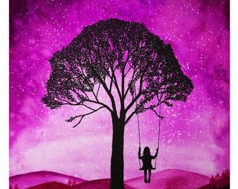 Daydreamer A4 Print Pink