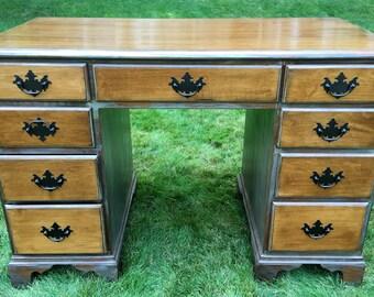 SOLD - Vintage Conant Ball Maple Desk, Antique Solid Maple Desk, Conant Ball Furniture, Vintage Desk, Antique Desk