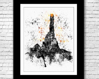 Barad-dûr Lord of the Rings Watercolor - Buy 2 Get 1 FREE