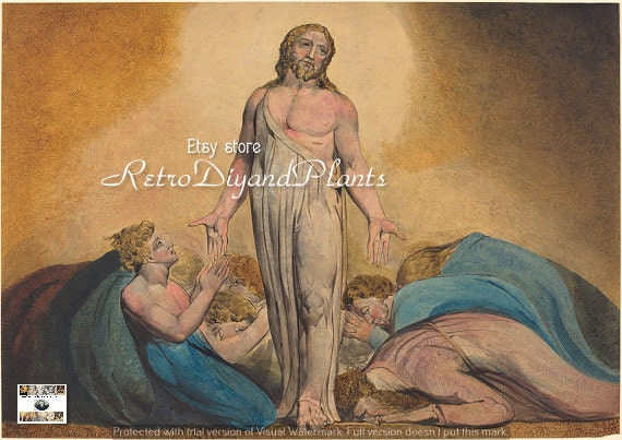 WILLIAM BLAKE Christ Appears to His Disciples after the Resurrection ART  instant download