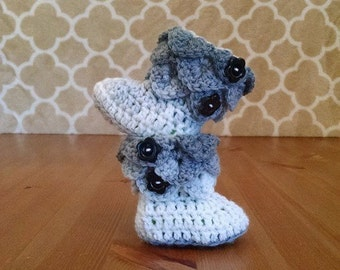 Ombre Crocodile Stitch Booties, Ombre Baby Booties, Ombre Booties, Crochet Baby Booties, Ombre Baby Shoes, Ombre Crocodile Stitch