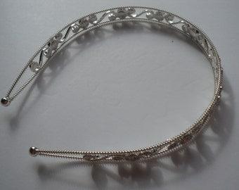 Vintage, The Great Gatsby, Downton Abbey, Flapper Girl, Clear Diamond Styled Rhinestone, Jeweled, Glamours, Headband