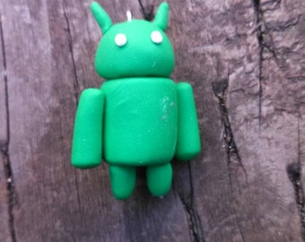Android robot polymer keychain
