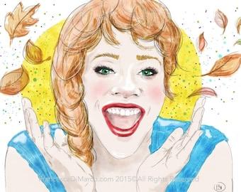 Portrait from photo, custom portrait, custom watercolor, girl portrait, wall art canvas, personalized art, birthday gift, wedding gift, gift