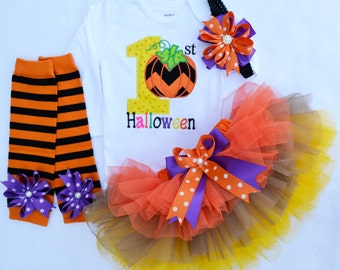 First birthday outfit girl,My first Halloween outfit,1st Birthday Outfit,Pumpkin Outfit ,Cake Smash outfit girl,My 1st Thanksgiving Outfit