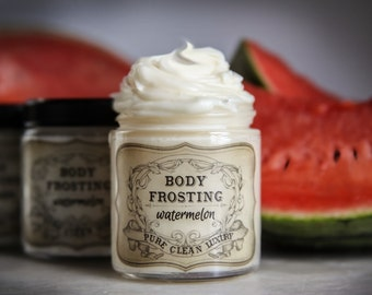 Organic Watermelon Body Frosting | Body Butter | Watermelon  | Whipped Body Butter | Organic Body Butter | Lotion | Organic Lotion | Creams
