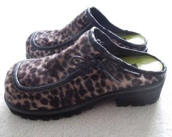 SALE 90s Velvet Cheetah Print Mudd Shoes