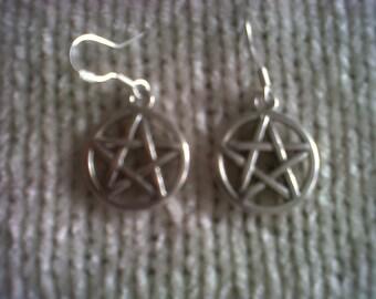 HALLOWEEN SALE!  Pentacle Earrings