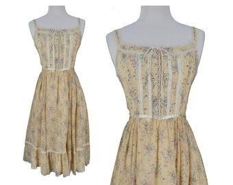Vintage Dress, 1970s Dress, 70s Dress, Boho Dress, Vintage Boho Dress, Prairie Dress, Gunne Sax Dress, Floral Dress, Sun Dress, Small