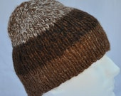 Three-tone Brown Alpaca Hat 14027