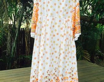 Vintage 70s Indian print dress