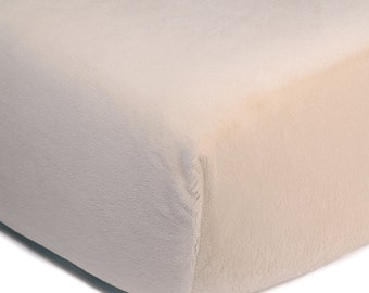So Softy Fitted Crib Sheet - Ivory
