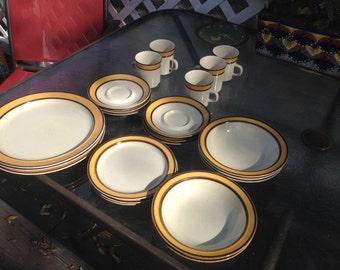 Rainbow Stoneware Dinner set, Sunkiss designs