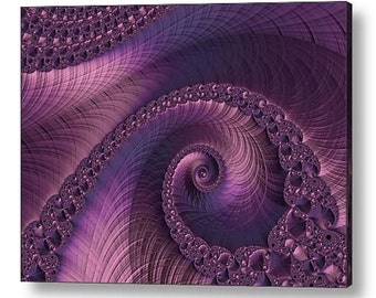 """Beauty of Sorrow, Modern Acrylic Print Wall Art: Abstract Purple & Navy Blue Abstract Fractal by Susan Maxwell Schmidt FREE Ship 16"""" x 12"""""""