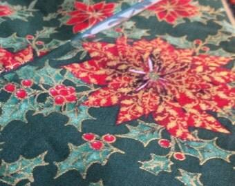 Poinsettia Christmas bunting