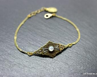 Art deco bracelet Diana pearl