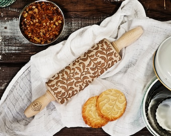 Floral - MINI laser engraved rolling pin