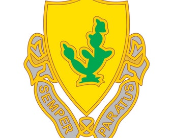 US Army - 12th Cavalry Regiment DUI - Full Color Decal - Sticker - Many Sizes - For Car, Truck, Laptop, and More!