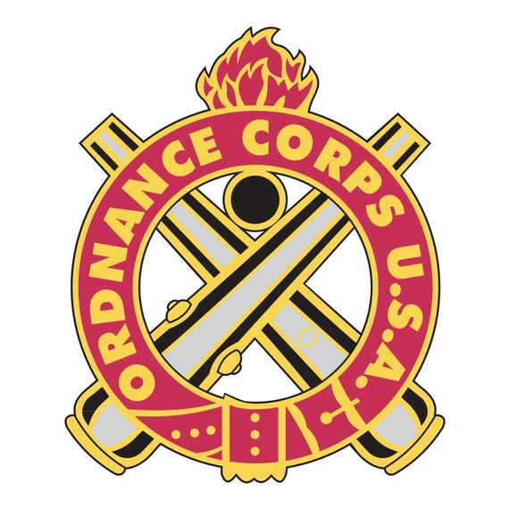 Us Army Ordnance Corps Insignia Full Color Decal Sticker