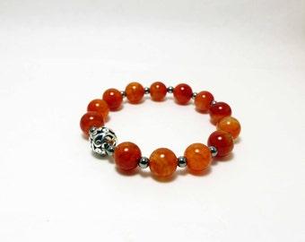 Fire Agate Stretch Bracelet
