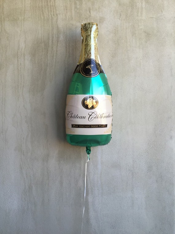 Champagne bottle balloon 36 champagne balloons foil for Champagne balloon wall
