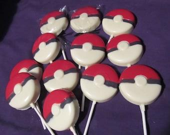 Pokeman Pokeball chocolates lollipops