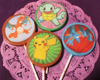 12 Pokemon chocolate lollipops